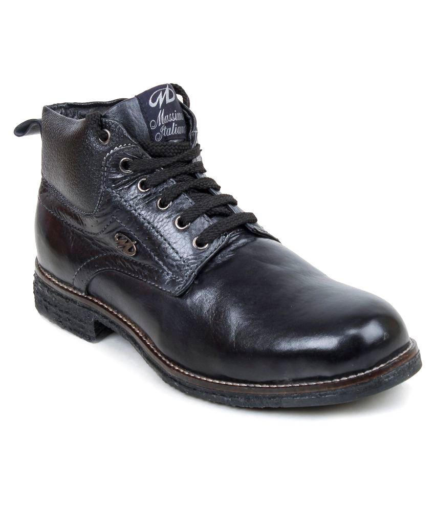 Massimo Italiano Black Casual Boot