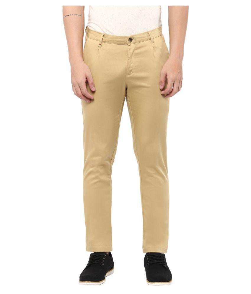 Monteil & Munero Khaki Slim Flat Trouser