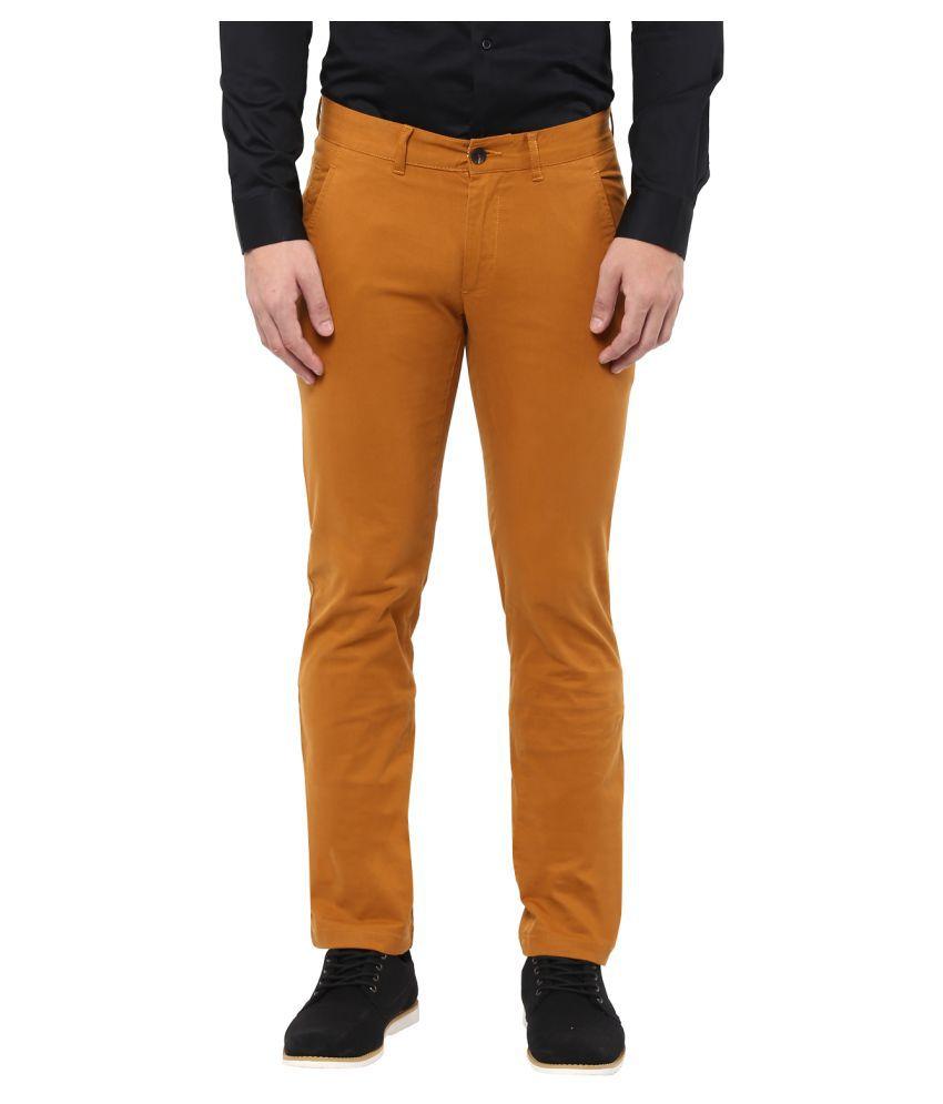Monteil & Munero Yellow Slim Flat Trouser