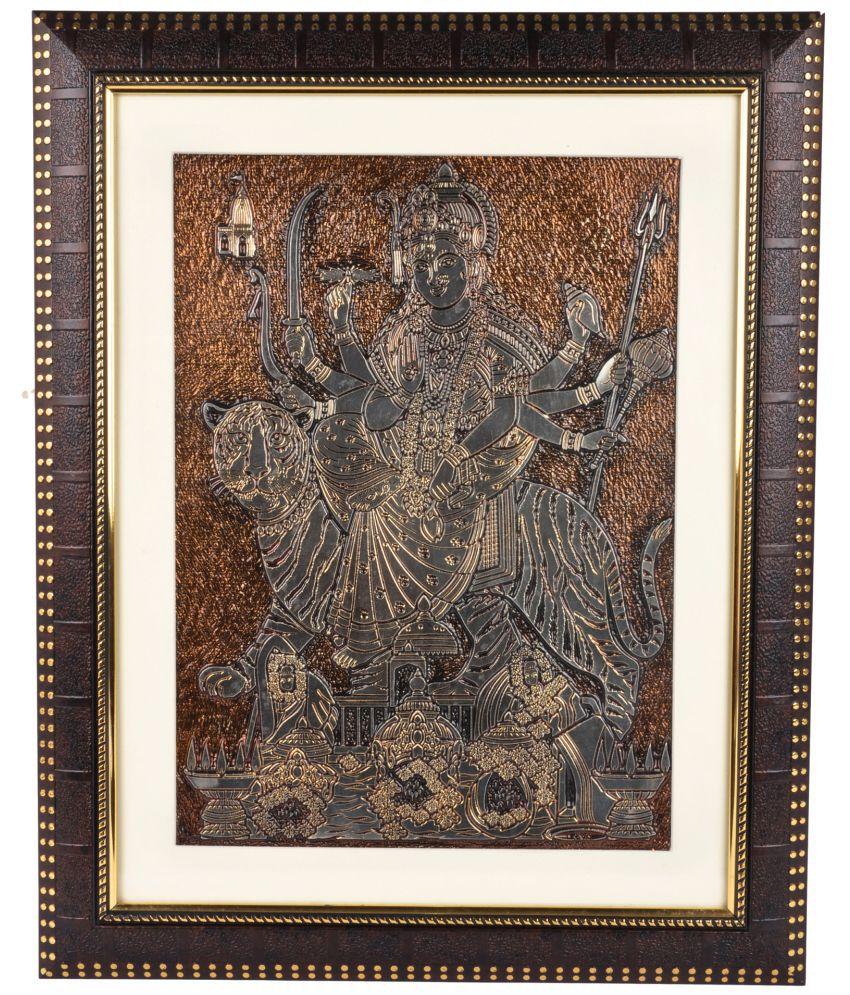 Riya's Signature Metal Painting With Frame Single Piece