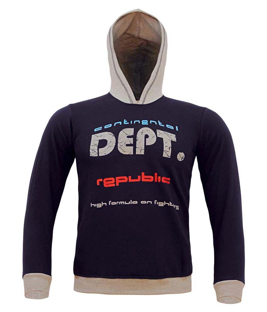 Kothari Boys Blue Hooded Sweatshirt Pack of 1