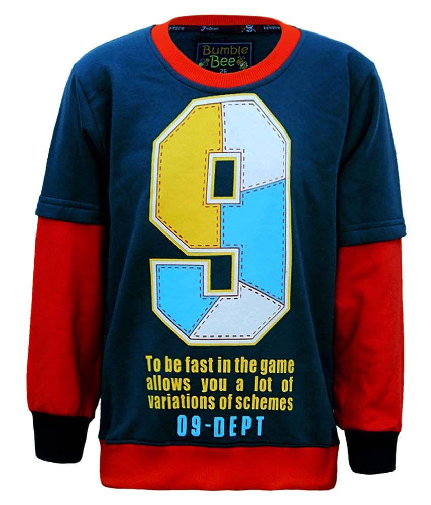 Kothari Boys Blue  Sweatshirt Pack of 1