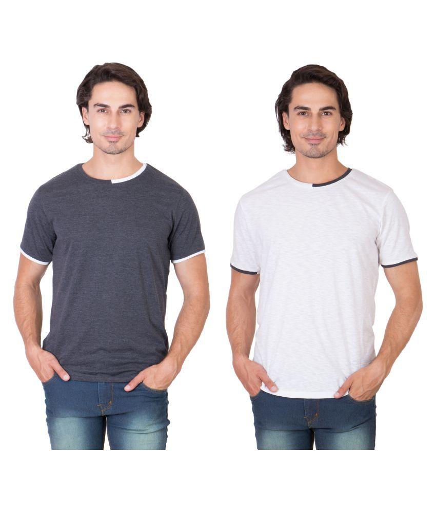 Ganzm Multi Round T-Shirt Pack of 2