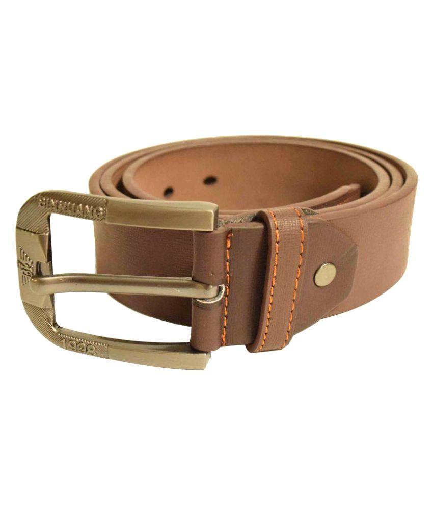 Jalad Brown PU Casual Belts