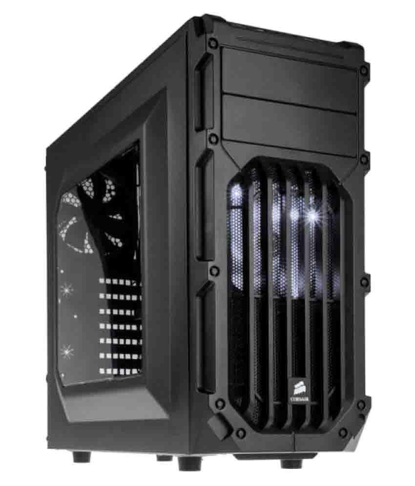 Corsair Spec 03 White LED Black Mid-Tower Gaming Cabinet
