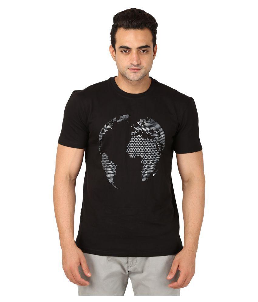 Kactus Black Round T-Shirt