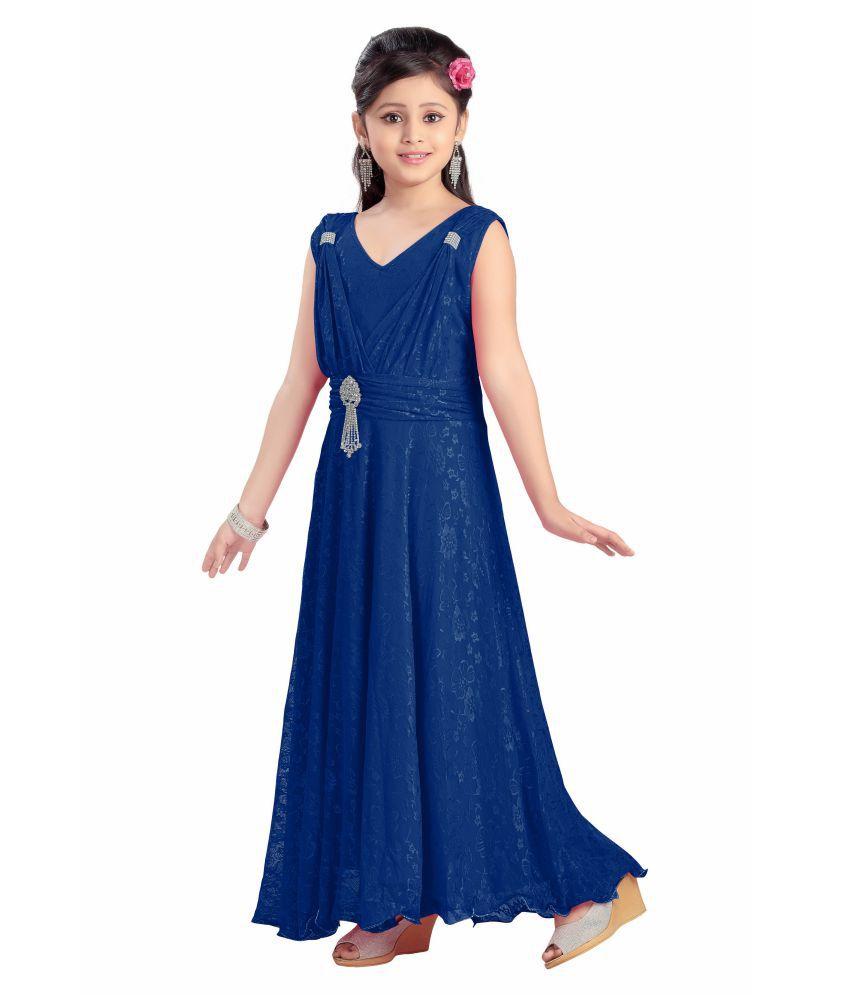 029fbf87c Aarika Girl s Self Design Premium Net Party Wear Dress - Buy Aarika ...