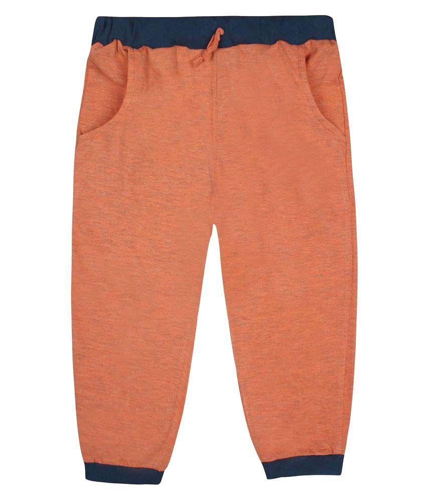 Jazzup Orange Cotton Capri For Girls
