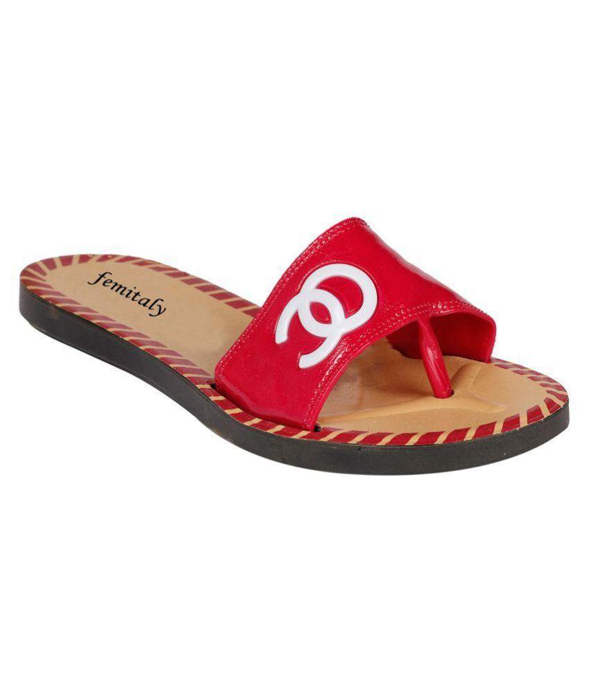 Femitaly Red Slippers