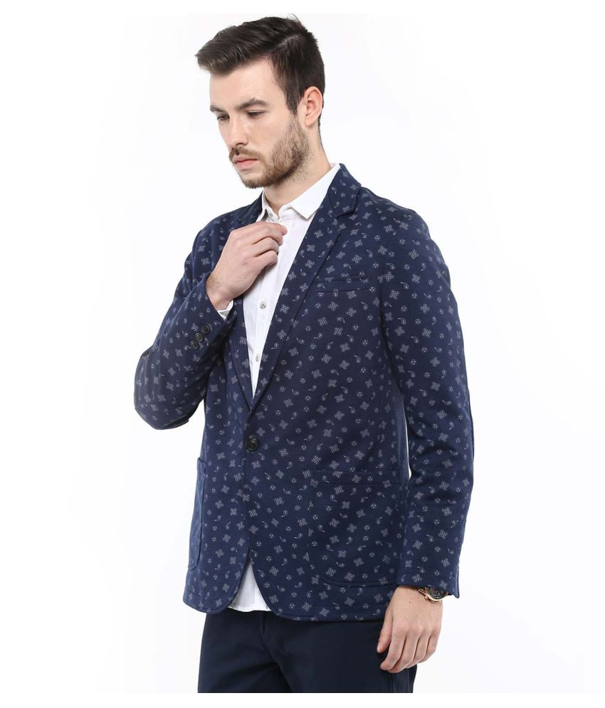 7c9e68b7a53b Mufti Navy Printed Casual Blazers - Buy Mufti Navy Printed Casual Blazers  Online at Best Prices in India on Snapdeal