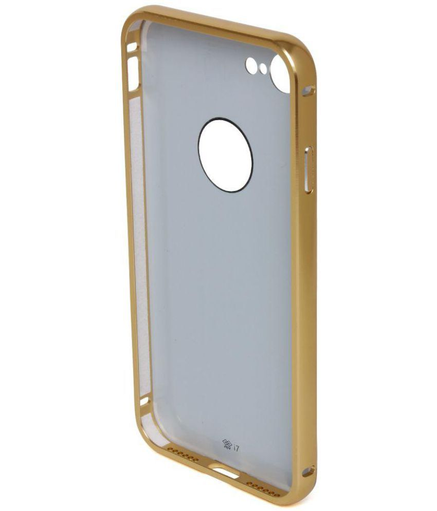 937f47afee0171 Apple iPhone 7 Cover by Tecozo - Golden - Plain Back Covers Online ...