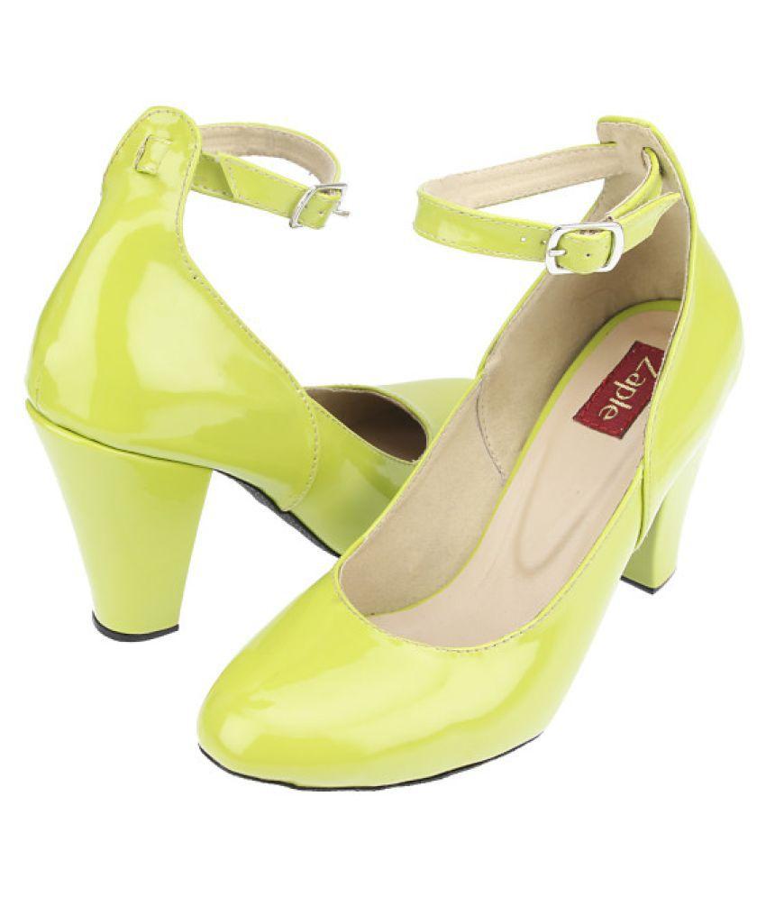 3a3ebe36e07 Zaple Green Heels Price in India- Buy Zaple Green Heels Online at ...
