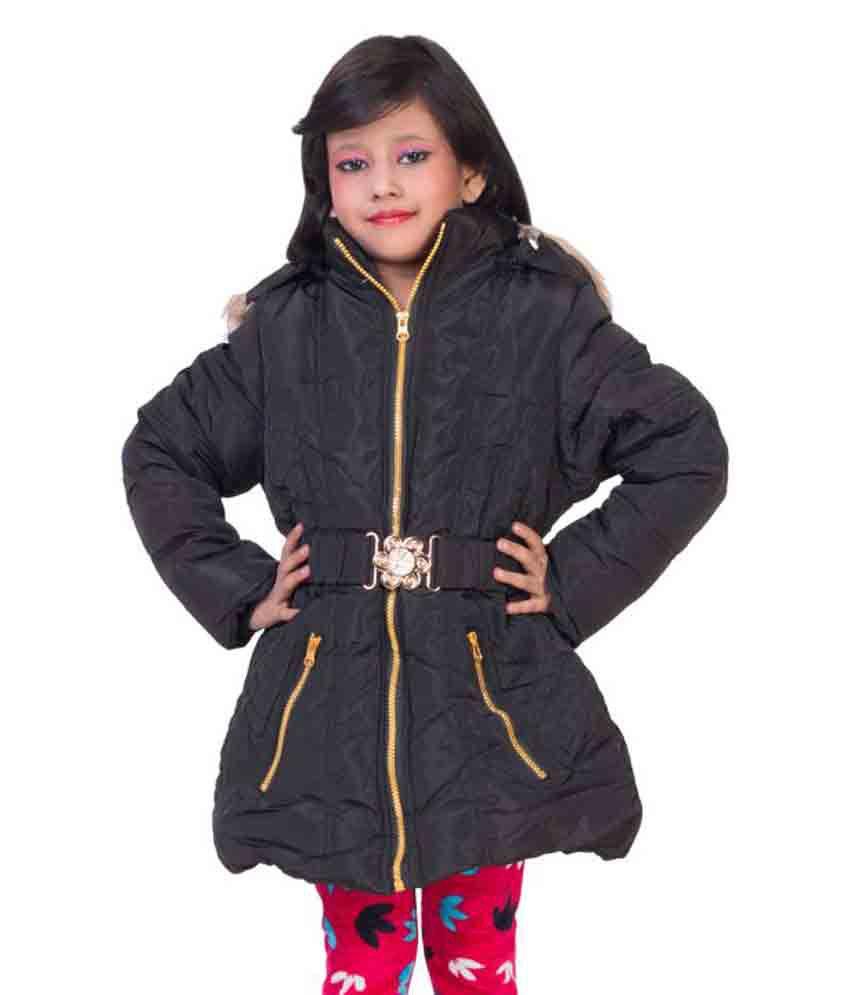 MDS Jeans Black Polyster Lycra Jacket For Girls