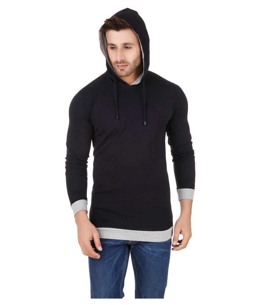 Fabstone Collection Navy Hooded T-Shirt