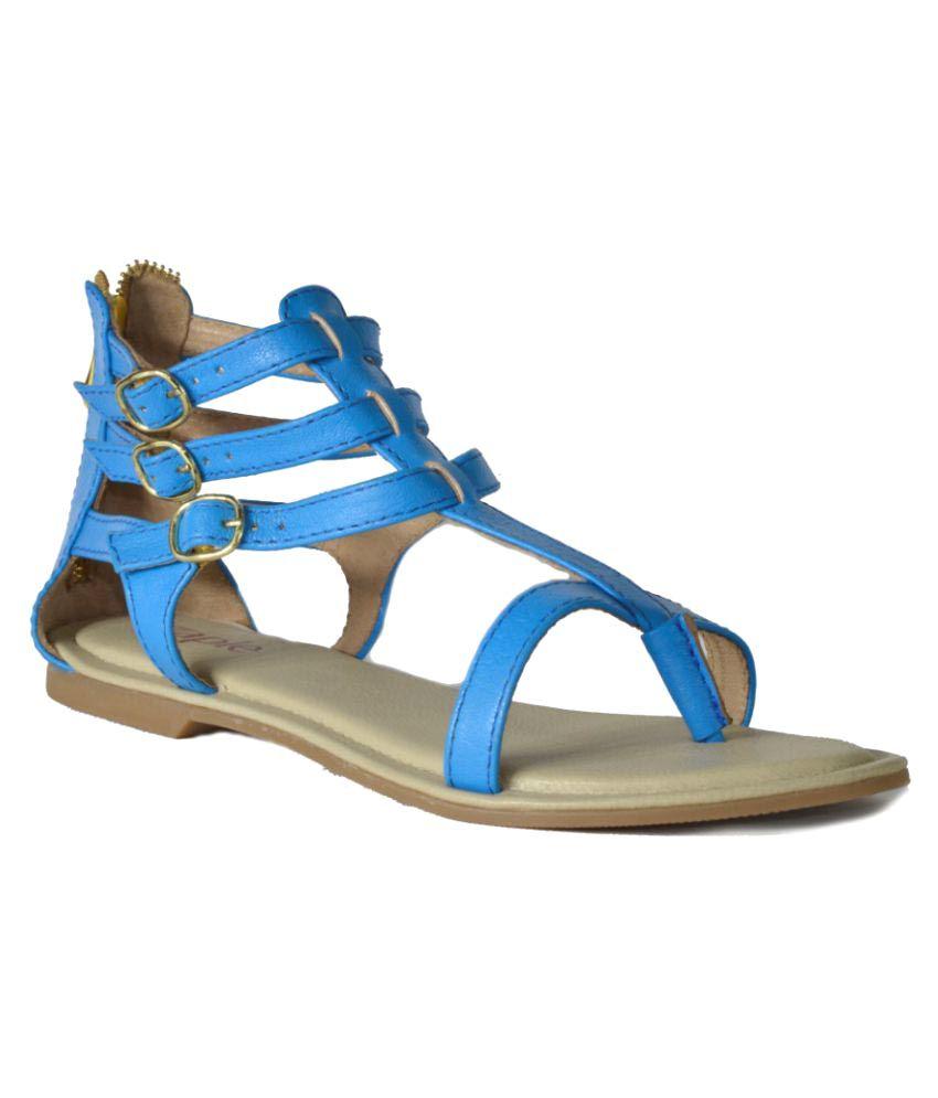 Zaple Blue Flats