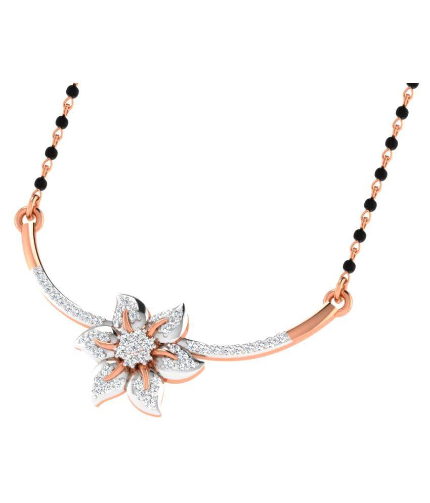 His & Her 18K Rose Gold Diamond Mangalsutra
