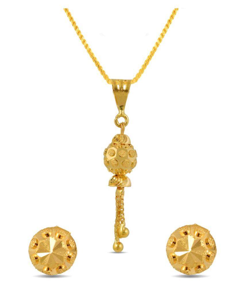 P.N.Gadgil Jewellers 22k BIS Hallmarked Yellow Gold Necklace Set