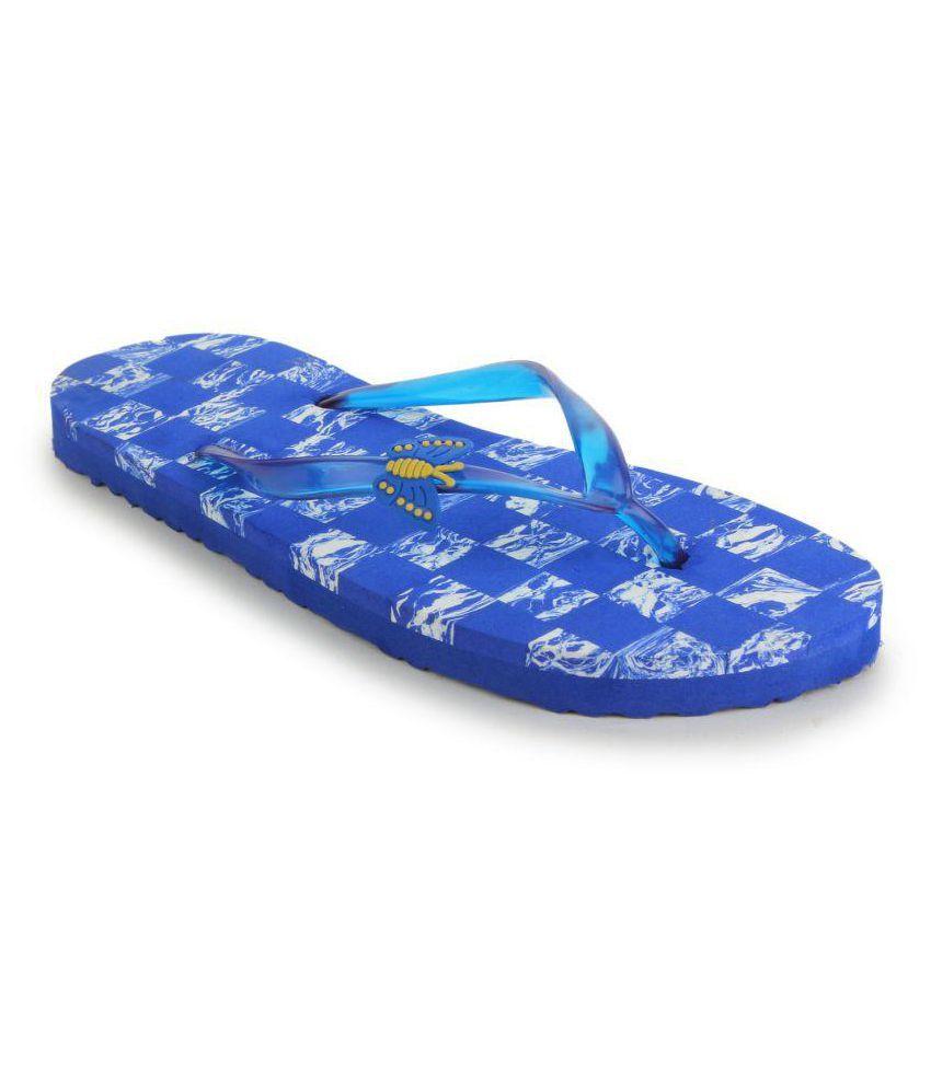 Shoez Hub Blue Slippers
