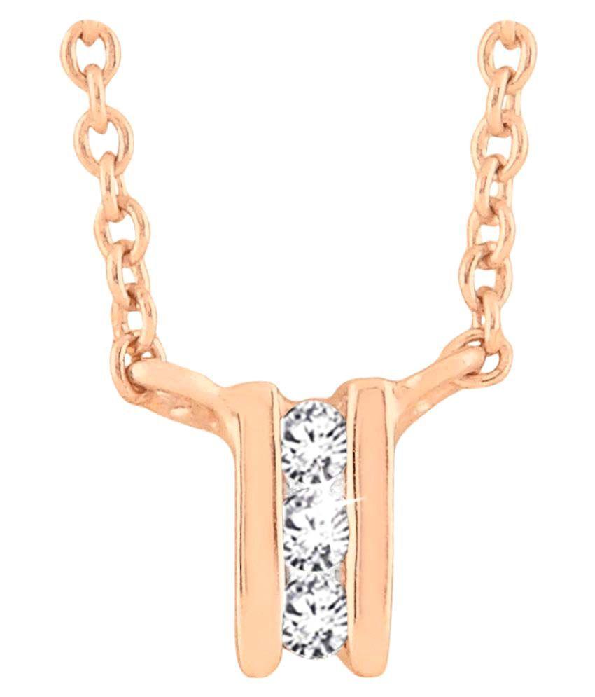 Sparkles 18K Rose Gold Necklace