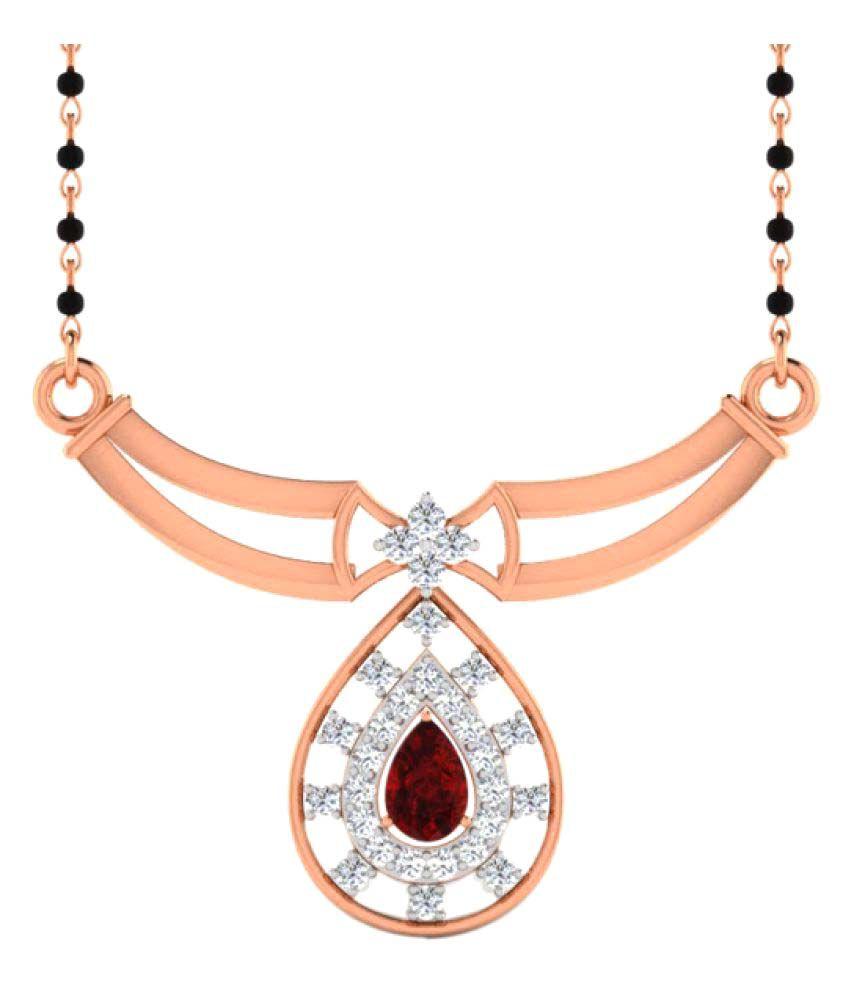 Sparkles 9K Rose Gold Necklace