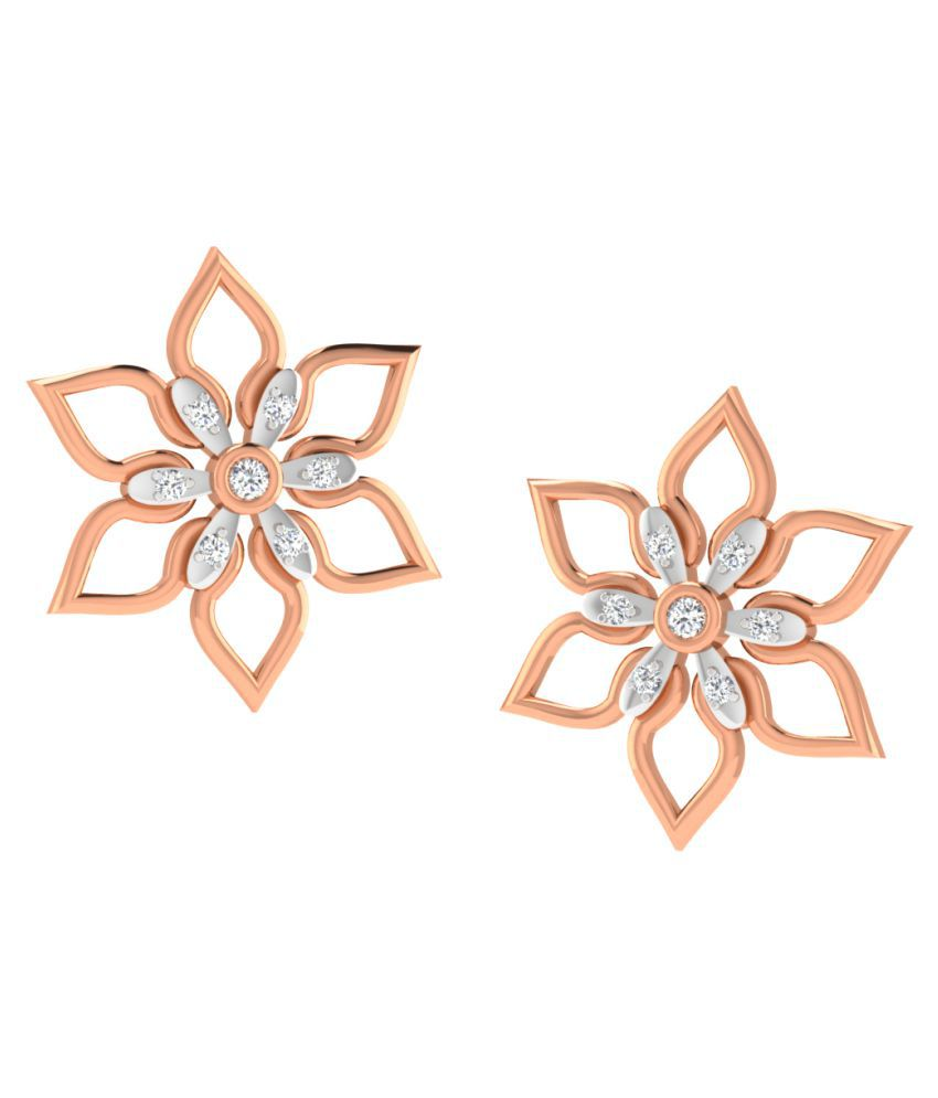 Sparkles 18K Rose Gold Diamond Studs