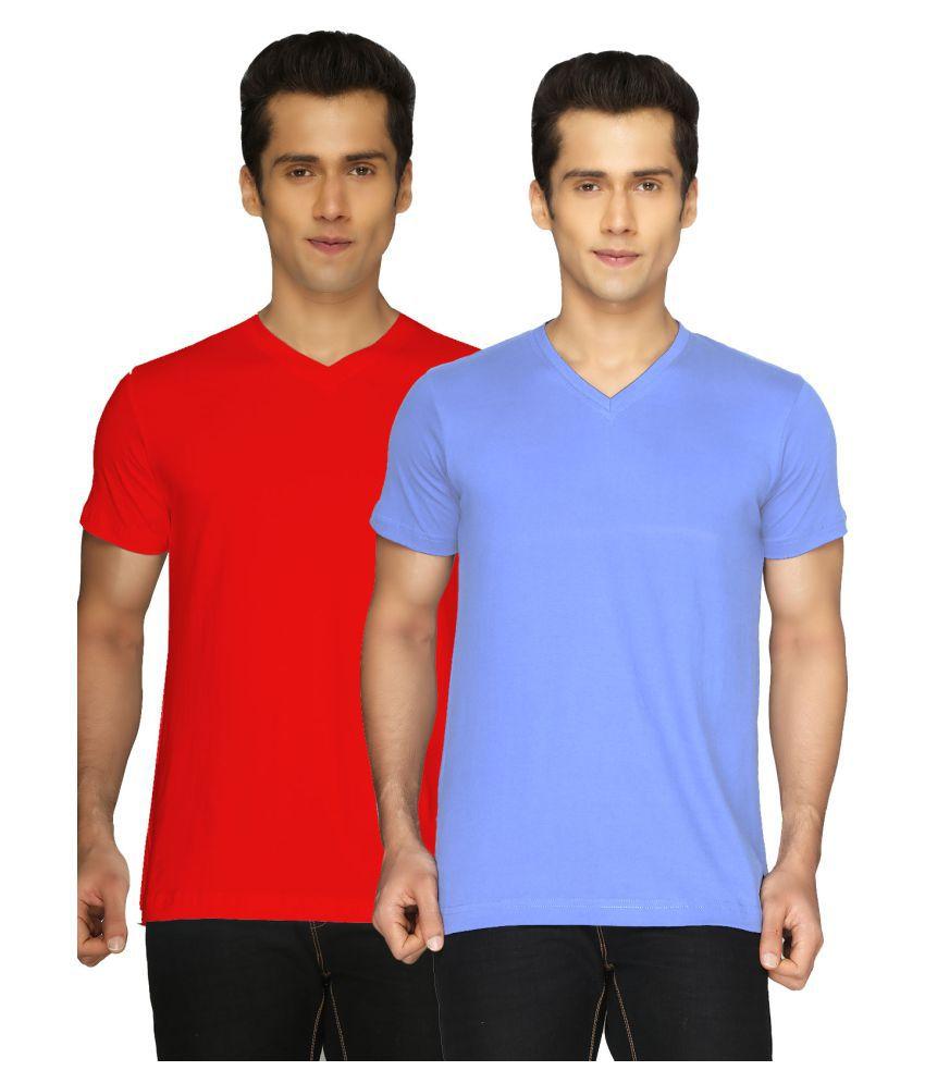 Joke Tees Multi V-Neck T-Shirt Pack of 2
