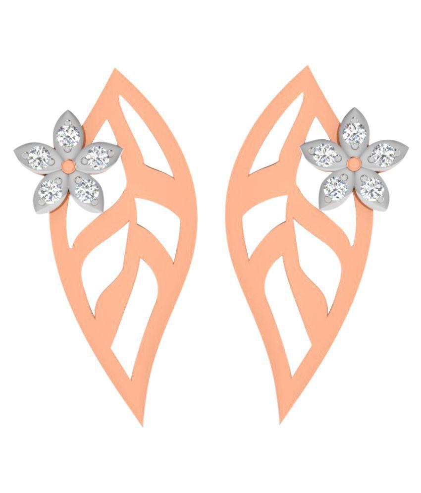 Sparkles 18K Rose Gold Diamond Studs
