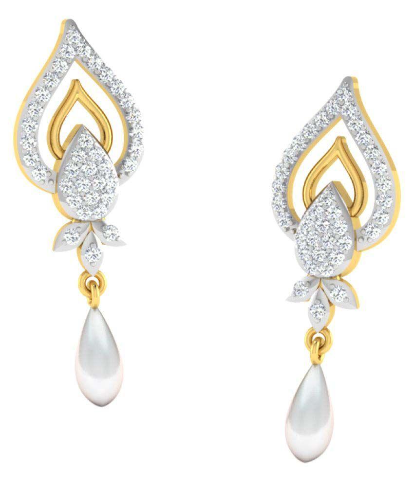 Sparkles 18K Yellow Gold Diamond Drop Earrings