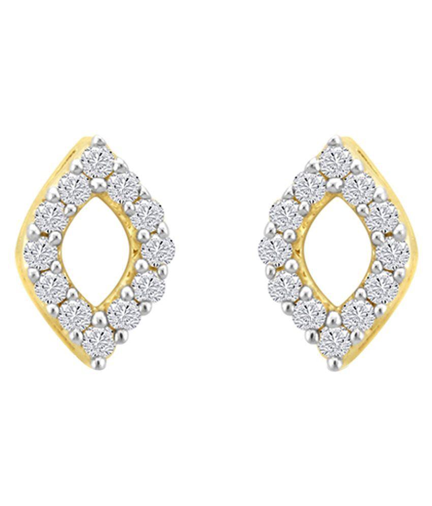 Sparkles 9K Yellow Gold Diamond Studs