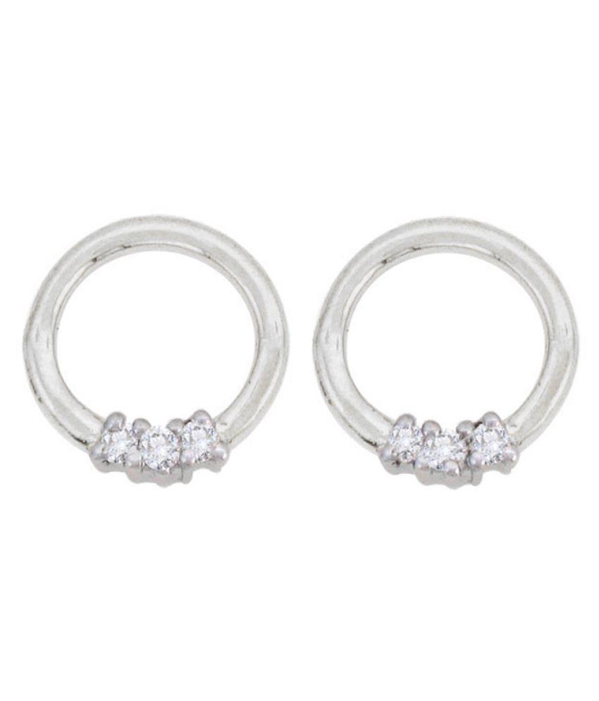 Sparkles 9K White Gold Diamond Balis
