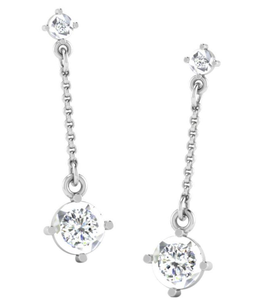 Sparkles 9K White Gold Diamond Hangings