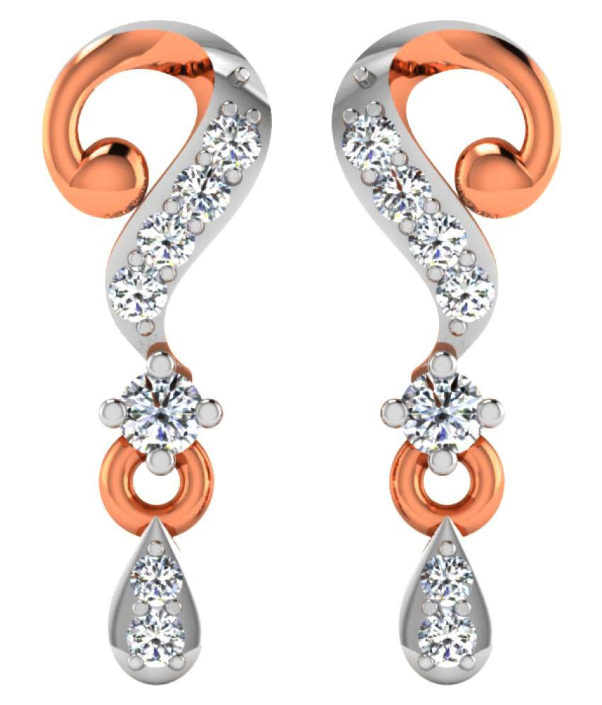 His & Her 18K Rose Gold Diamond Drop Earrings