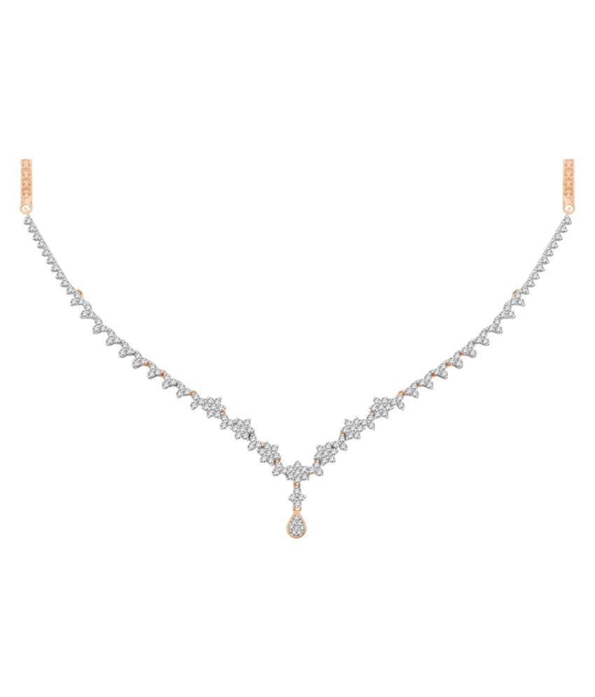 Sparkles 18K Rose Gold Necklace