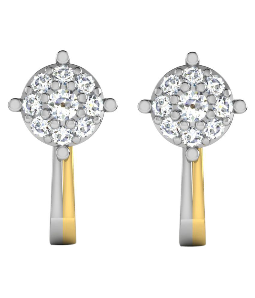 His & Her 9k Yellow Gold Diamond Drop Earrings
