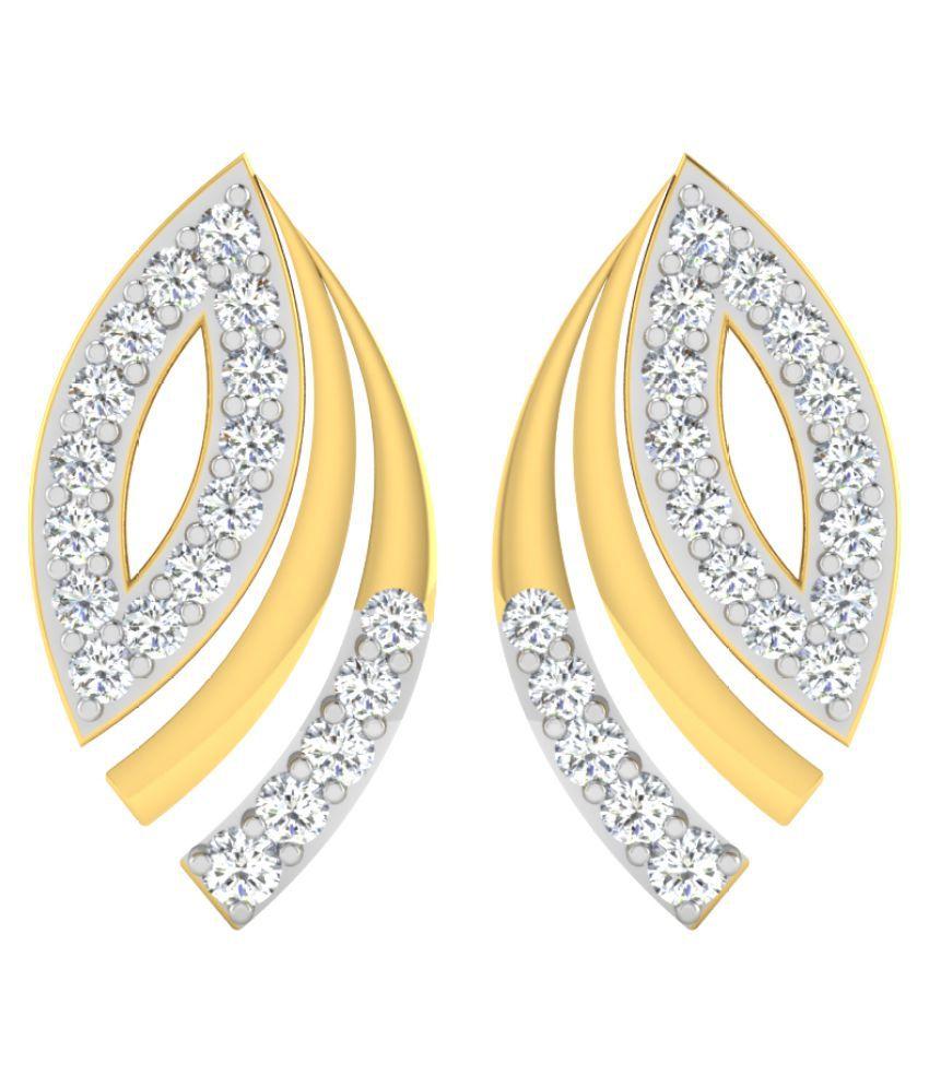 His & Her 18K Yellow Gold Diamond Studs