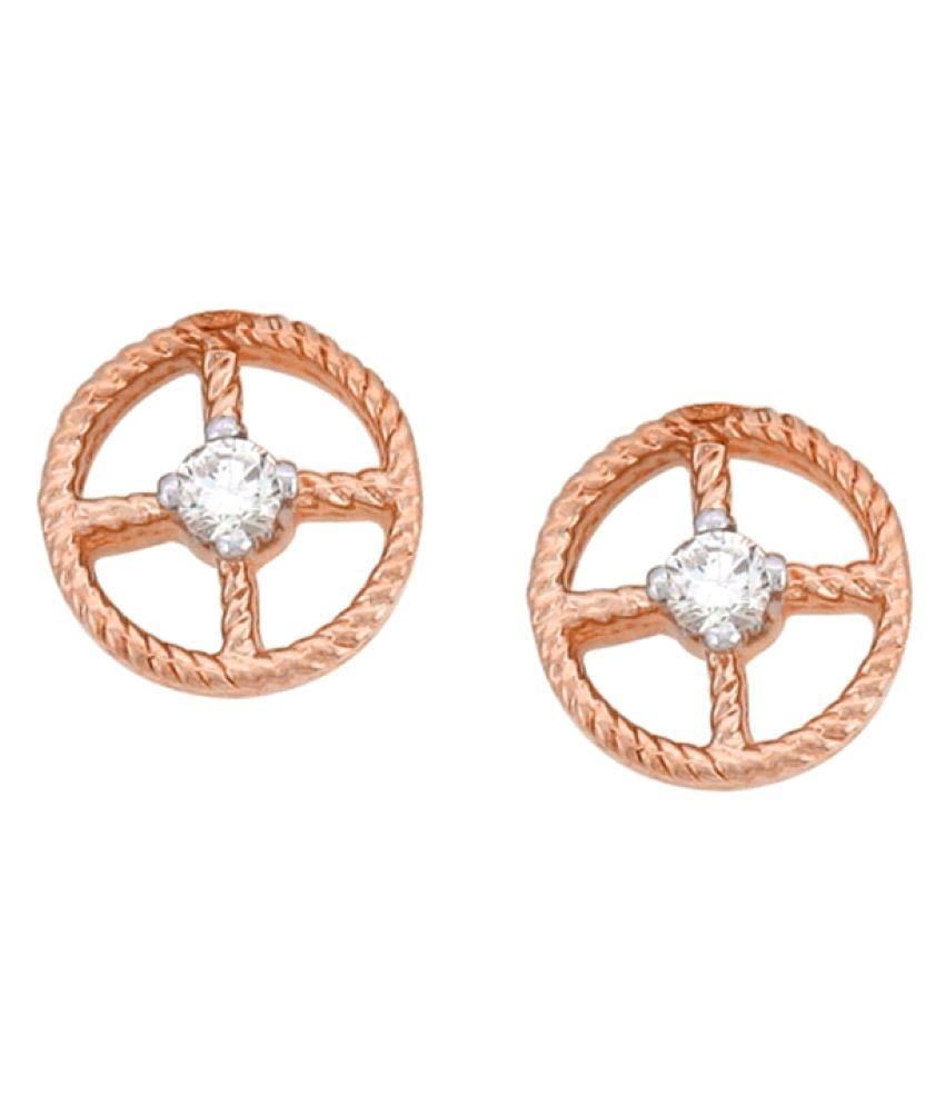 His & Her 9K Rose Gold Diamond Studs