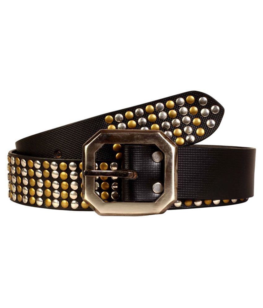 Scharf Black Leather Party Belts