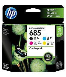 HP 685 Black Cyan Magenta Yellow Original Ink Advantage Cartridges, Pack of 4