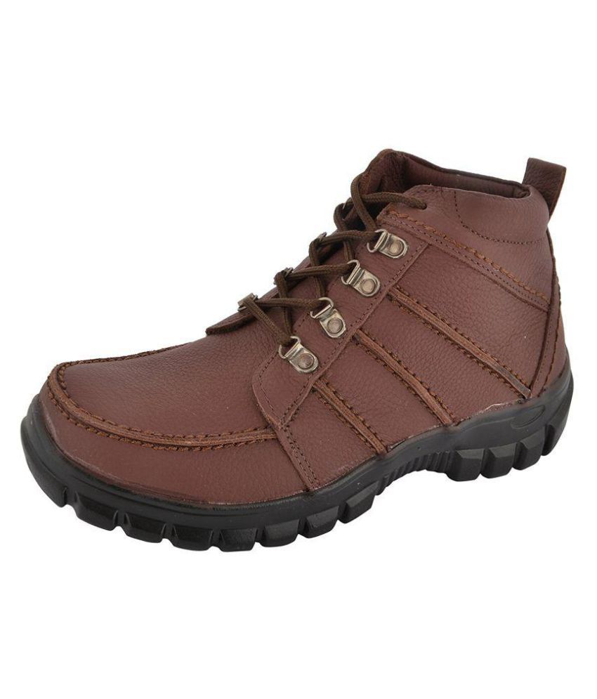 Anthropos Maroon Casual Boot