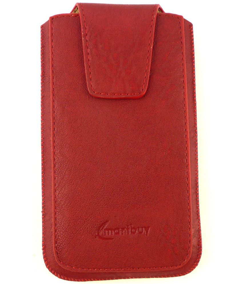 Micromax Canvas Selfie 3 Q348 Flip Cover by Emartbuy - Red