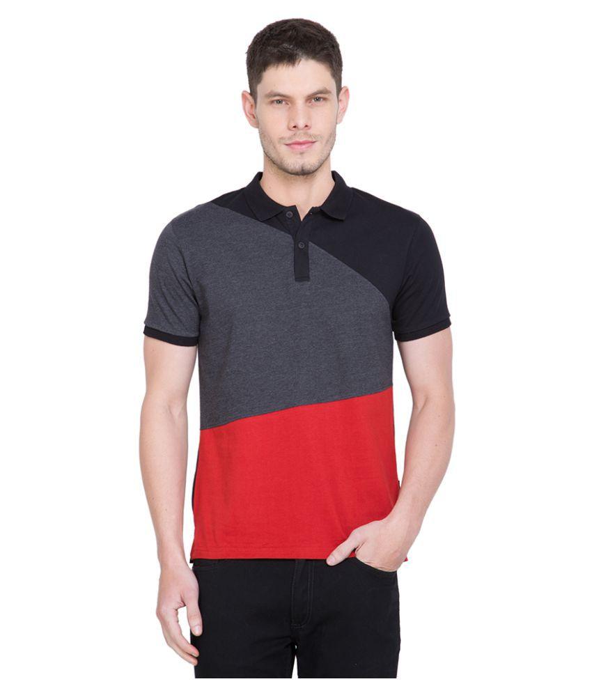 Highlander Black Slim Fit Polo T Shirt Buy Highlander
