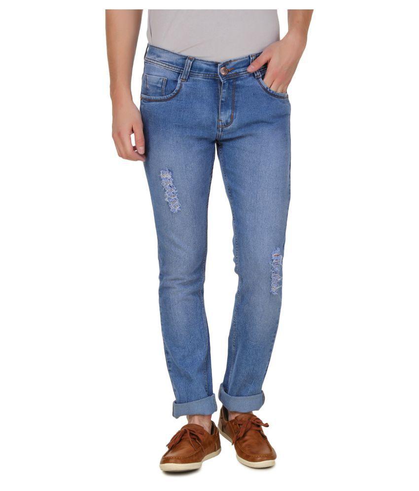 Haltung Light Blue Slim Distressed Jeans