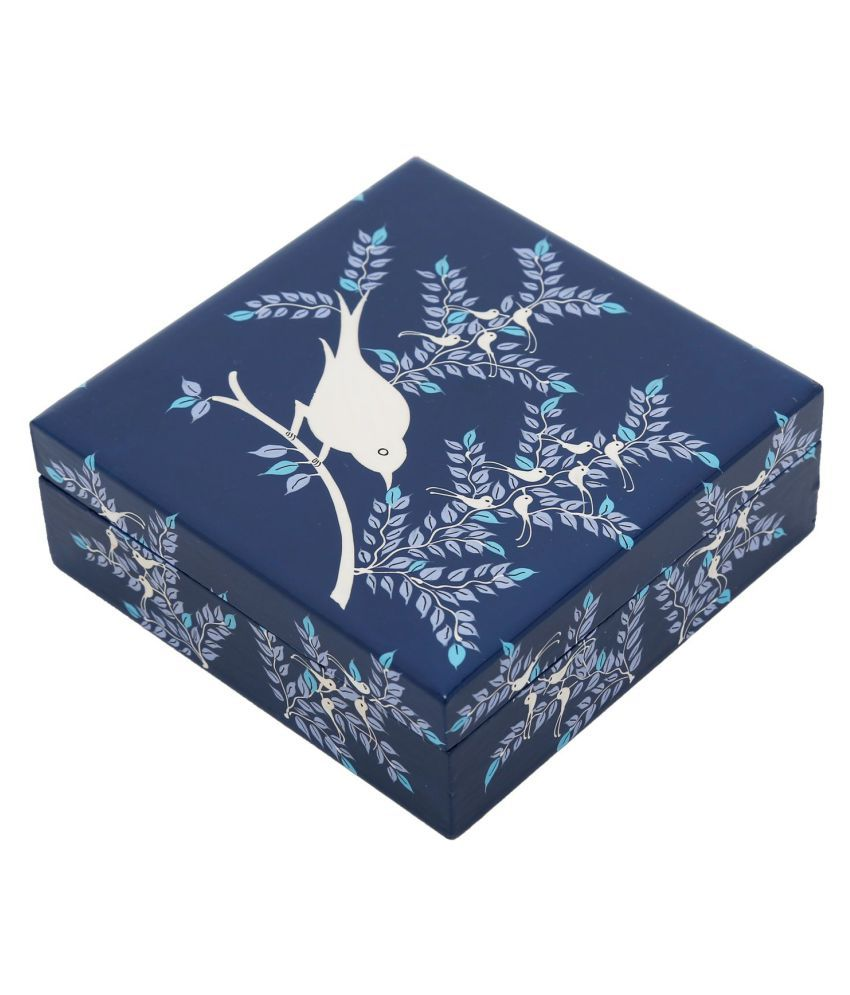 The Crazy Me Blue Wooden Jewellery Boxe