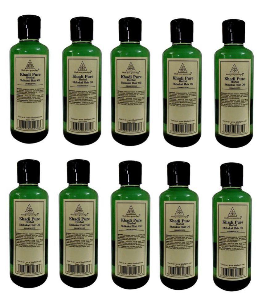 Khadi Pure SHIKAKAI HAIR OIL SHIKAKAI OIL 2100 ml Pack of 10
