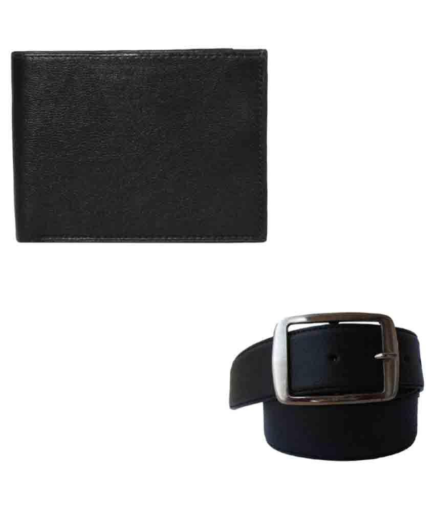Klaska Black Leather Formal Belts