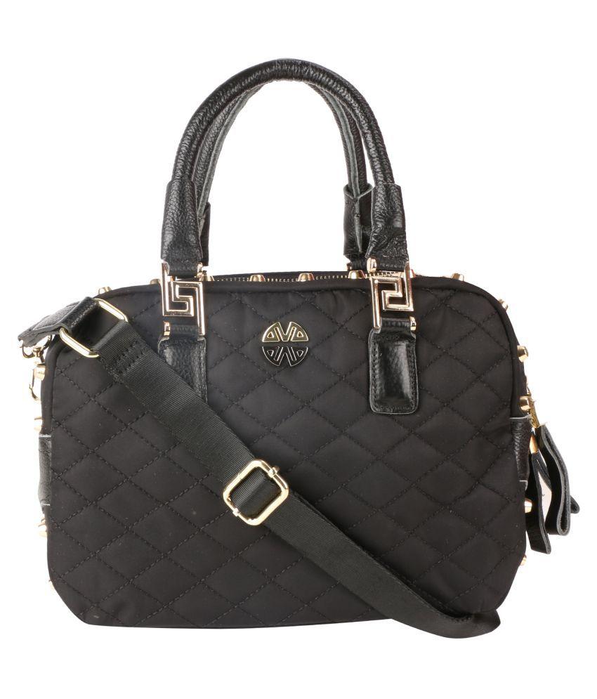 U-NIK Trendsetters Black Faux Leather Shoulder Bag