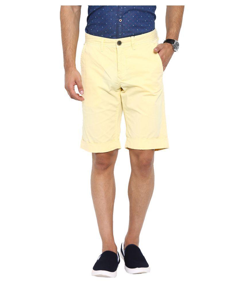 Showoff Yellow Shorts