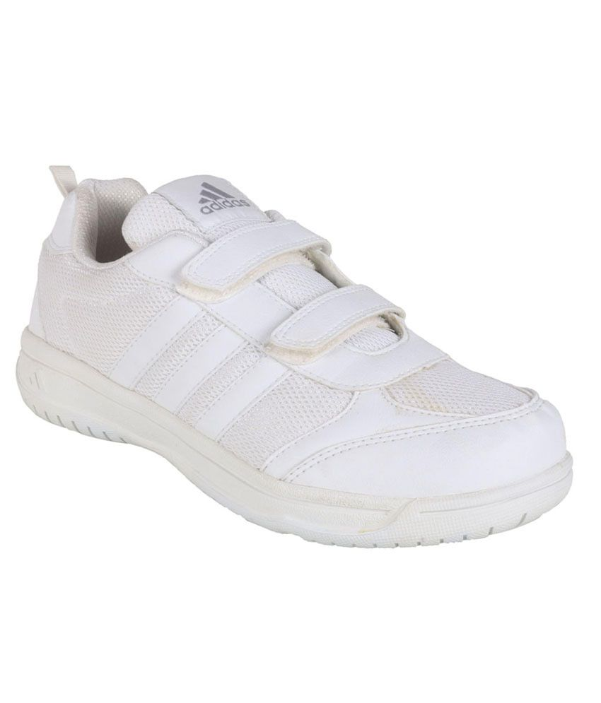 5db84af1b0b3 Adidas White Sport Shoes For Kids Price in India- Buy Adidas White Sport  Shoes For Kids Online at Snapdeal