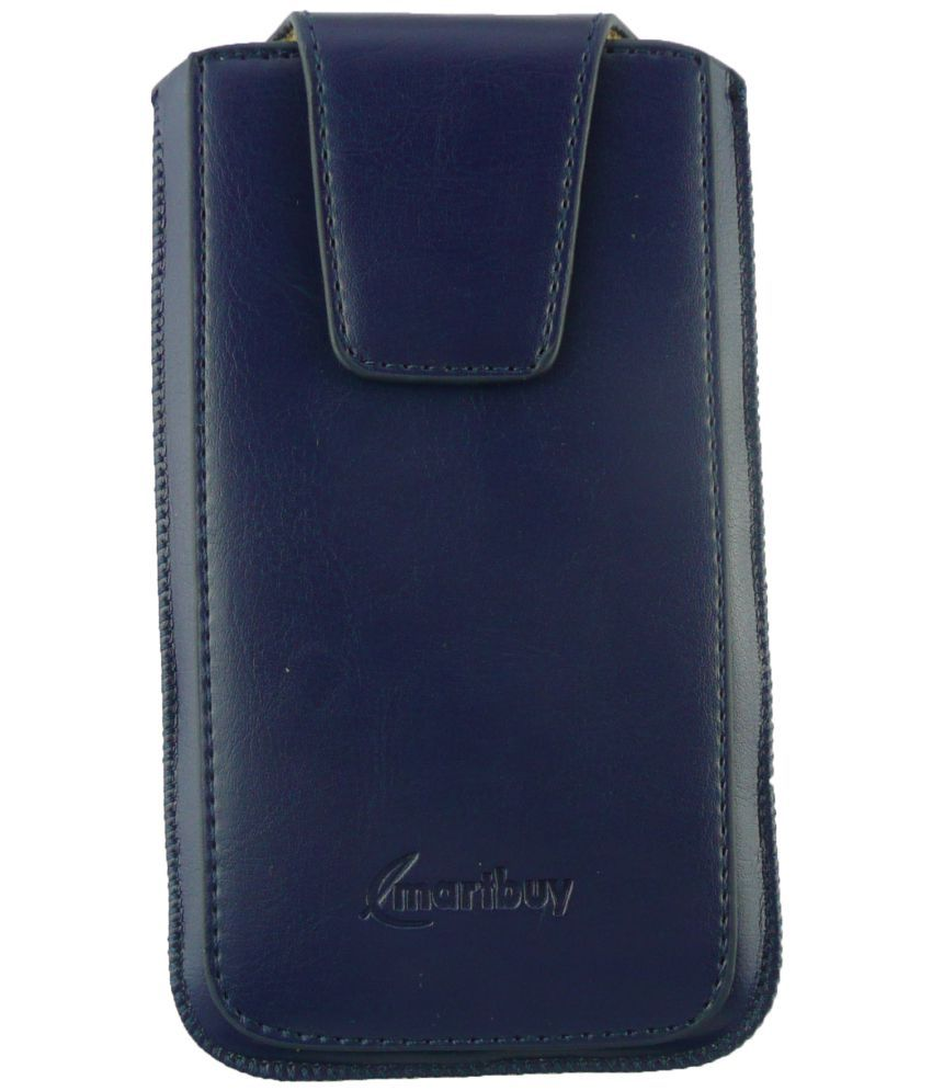 Micromax Canvas Fire 5 Flip Cover by Emartbuy - Blue