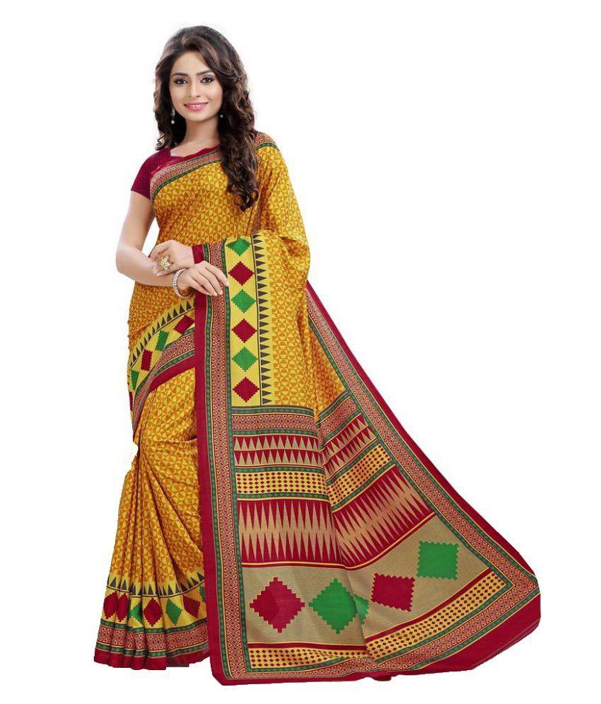 SGM Multicoloured Art Silk Saree